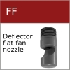 Deflector flat fan nozzle