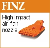High impact air fan nozzle