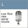 L series low flow rate spiral misting nozzle