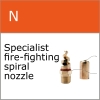 Fire fighting spiral nozzle