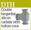 Double tangential whirl hollow cone nozzle