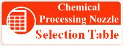 chemical processing nozzle selection table