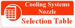 cooling system nozzle selection table