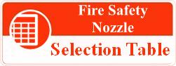 fire safety nozzle selection table