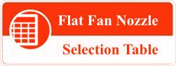 Flat Fan Nozzle selection table