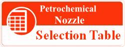 Petrochemical nozzle selection table