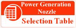 Power generation nozzle selection table